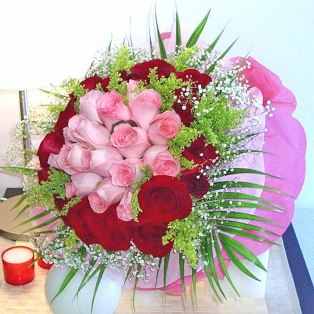 Send Flowers Philippines | 12 pink + 24 Red