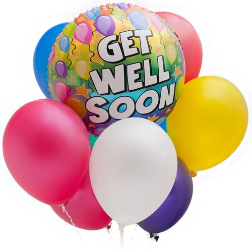 Get Well Soon. Balloons