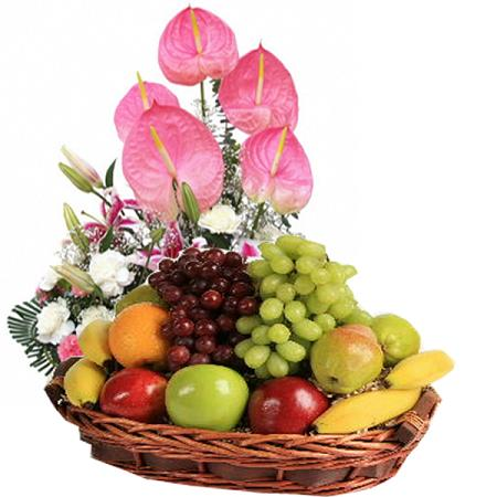 Send Flowers Philippines Fruits Flowers Basket