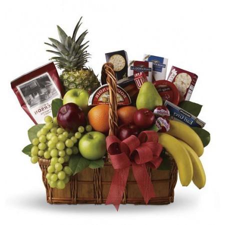 Sendflowersphilippines Com 4 Items Fruits W Gift Basket