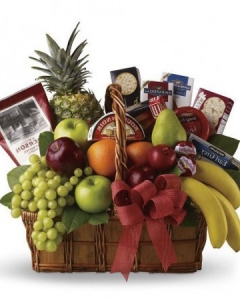 4 items fruits w/gift basket