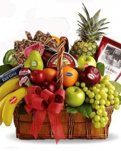 gift basket w/5 items fruits