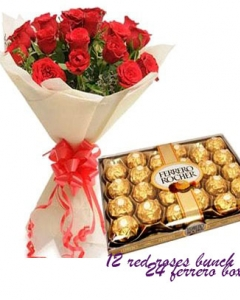 12 red bunch w/24 ferrero