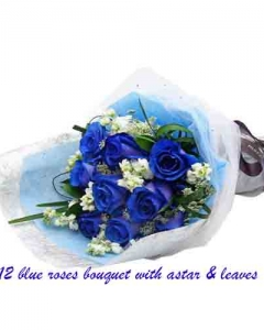 12 blue bouquet