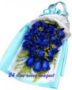 24 blue bouquet