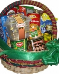 Basket with Gifts and Goodies