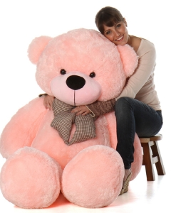 Giant pink teddy 44