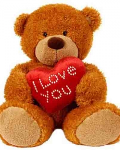 3ft brown teddy w/i love you pillow