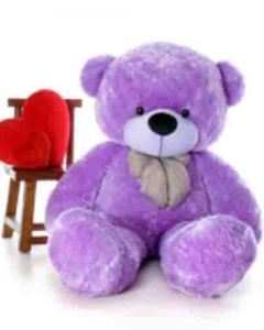 3ft lavender teddy w/double pillow