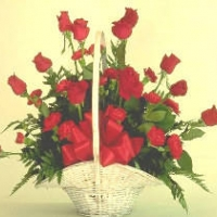 30 red Dozen Roses Basket